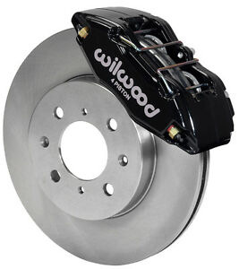 Wilwood Disc Brake Kit Front Stock Replacement Honda 262mm Rotors Black Calipers