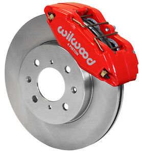 Wilwood Disc Brake Kit Front Stock Replacement Honda 262mm Rotors Red Calipers