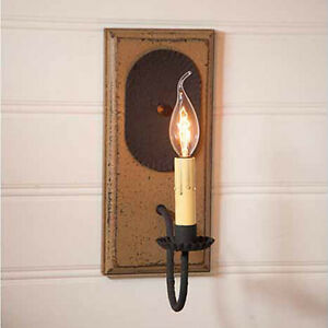 Irvins Tinwware Wilcrest Single Arm Wall Sconce Light In Americana Pearwood