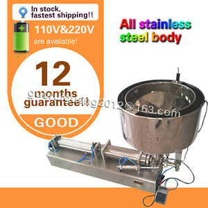 Usa Stock Now 1000ml Liquid Filling Machine For Cream Sauce cosmetic With Heater