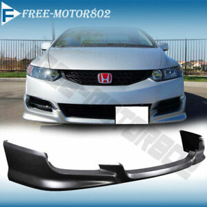 For 09 11 Honda Civic Coupe Urethane Front Bumper Lip Spoiler Bodykit Hfp Style