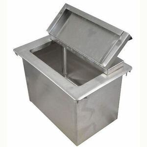 Bk Resources Stainless Steel Drop In Ice Bin With Lid 34 X 18 Bk dibl 3418