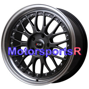 18 18x8 5 Xxr 521 Chromium Black Rims Wheels 5x114 3 Stance 06 15 Honda Civic Si