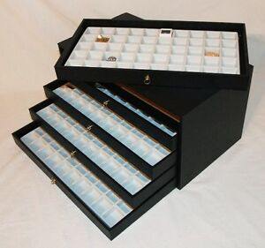 5 Drawer Multipurpose Storage Case 250 Compartments White Inserts