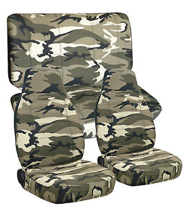 Toyota Tacoma Double Cab Front Rear Camo Seat Covers Airbag Friendly