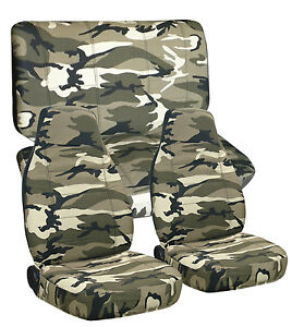 Fits Toyota Tacoma Double Cab Front Rear Camo Seat Covers Airbag Friendly