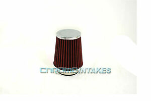 Red Universal 2 5 64mm Small Air Filter For Chrysler Short Cold Air Intake