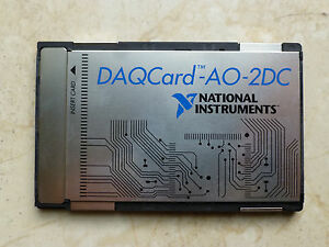 National Instruments Pcmcia Daqcard ao 2dc Ni Daq Card Analog Output