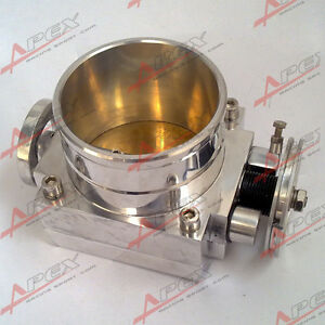 100mm Universal Throttle Body For Nissan Cnc T6 Aluminum Silver