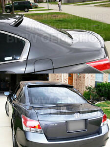 Combo Painted To Match 08 12 Honda Accord 8th Sedan Oe Trunk Roof Spoilers