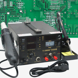 Soldering Rework Station Hot Air Power Supply 3 In 1 Saike 909d 220v