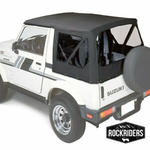1986 1994 Suzuki Samurai Replacement Soft Top With Rear 31 Tinted Windows Black