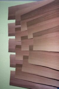 Australian Walnut Wood Veneer 12 Long Pieces