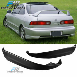 Fits 98 01 Acura Integra Rear Bumper Lip Spoiler Bodykit Cap 2 Pcs Pu
