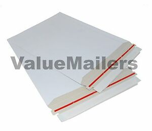 1000 6 X 6 Rigid Cd dvd Media photo White Cardboard Envelopes Mailers Stay Flat