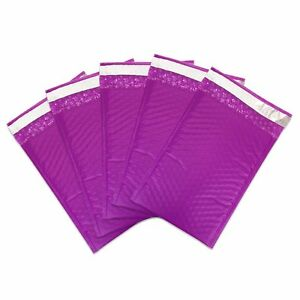 500 000 Purple Poly Bubble Mailers Envelopes Bags 4x8 Extra Wide 4 5 X 8