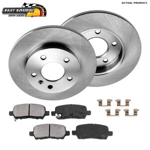 Rear Brake Rotors And Ceramic Pads For Buick Lacrosse Grand Prix Chevy Impala