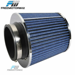 Blue Kn Tpye Air Filter Intake Universal For Most Car 3 5 Inch Performance Inlet