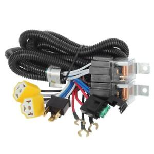 1x Ceramic H4 Headlight Relay Wiring Harness 2 Headlamp Light Bulb Socket Plugs