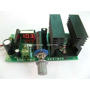 Lm338k Adjustable Dc 1 25 28v 5a Power Board Converter W Digital Led Voltmeter