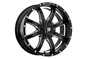 4 New 18 Ballistic Anvil 955 Black Chevy Ford Toyota Wheels Rims