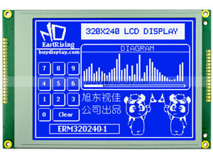 320x240 Blue Graphic Lcd Module Display ra8835 sed1335 optional Touch Panel