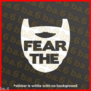 Boston Red Sox Fear The Beard Vinyl Decal Sticker Redsox Strong Duck Dynasty