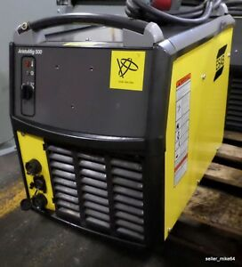 Esab Aristomig 500 Mig Welder And Power Cable wks