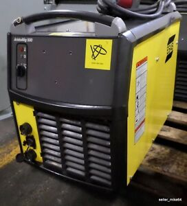Esab Aristomig 500 Mig Welder And Power Cable pzb