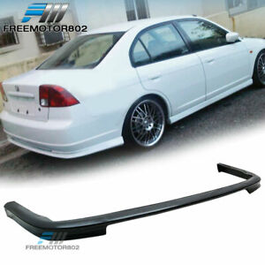 For 01 03 Honda Civic 4dr Sedan Rear Bumper Lip Spoiler Bodykit Type r