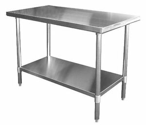 Ace 24 x24 Stainless Steel Work Table W Galvanized Shelf Legs Etl Wt ee2424