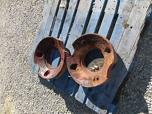 International Harvester Farmall Model A Rear Wheel Weights
