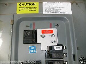 Ge 100x General Electric Ge Generator Interlock Kit 100 Amp Transfer Switch