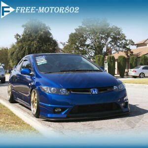 For 06 08 Honda Civic 2door Hfp Front Bumper Lip Spoiler Bodykit Poly Urethane