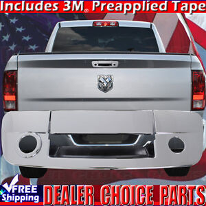 2009 2018 Dodge Ram 1500 Triple Chrome Tailgate Handle Cover W Camera
