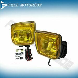 For 96 98 Honda Civic Ek Yellow Fog Lights Lamps Kit