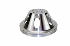 Sbc Chevy 283 350 Polished Aluminum Swp Single Groove Water Pump Pulley