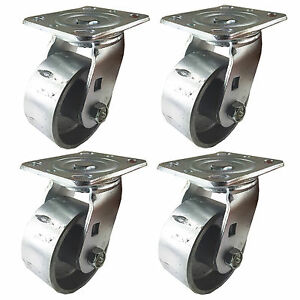 4 X 2 Steel Wheel Caster 4 Swivels