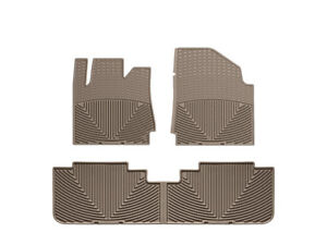 Weathertech All Weather Floor Mats For Cadillac Srx 2010 2016 1st 2nd Row Tan
