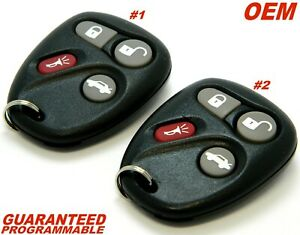 Oem Matched Pair Cadillac Cts Keyless Remote Entry Fob 1 And 2 12223130 50