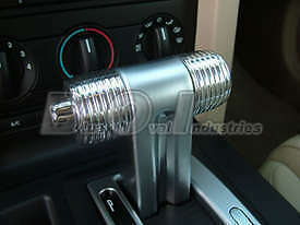 2005 2009 Mustang Automatic Grooved Shifter Handle Cover Chrome Billet