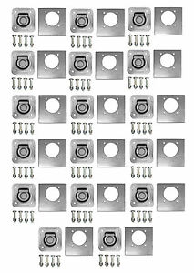 14 D Ring Kit 5000 Recessed W back Plate Bolts Trailer Truck Car Tie Down
