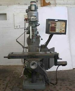 9 X 42 Bridgeport Series I 2 Axis Contril anilam Crusader Ii Vertical Mill