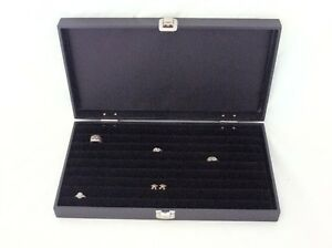 New 8 Row Tufted Ring Traveling Jewelry Display For 110 Rings