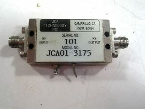 Jca Technology Used Rf Amp Sma