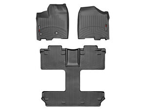 Weathertech Floorliner Mats For Toyota Sienna 2013 2019 7 passenger Black