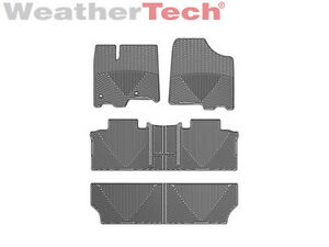 Weathertech All weather Car Mats For Toyota Sienna 2013 2019 Grey