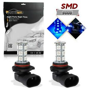 2pcs Super Bright Blue 9006 Hb4 Fog Driving Light Lamp 18 5050 Smd Led Bulbs 12v