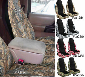 Designcovers Fits 2005 2012 Ford Ranger 60 40 High Back Car Seat Covers Camo Blk