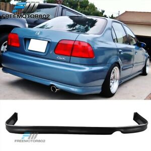 Fits 96 98 Honda Civic 2 4dr Rear Bumper Lip Spoiler Bodykit Poly Urethane Pu